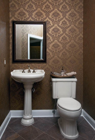 Wallpapered Powder Room Inspired Design