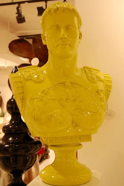 Neon Caesar Bust