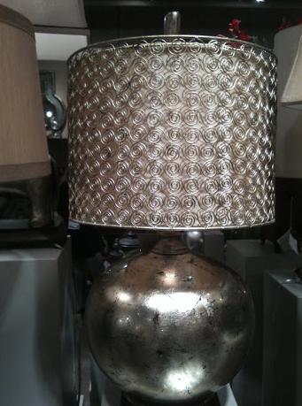 metallic silver lamp