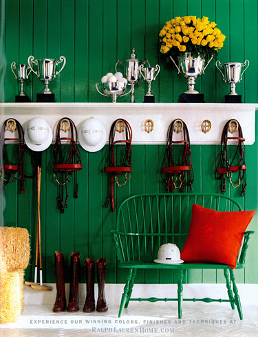 Equestrian mud room