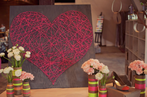 DIY String Heart Wall Art