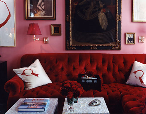 Pink and red color scheme