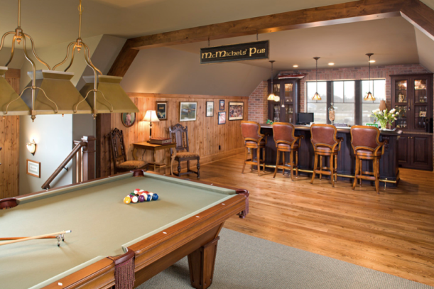 Have a Pint! English Pub-Style Basements | Inspired Design