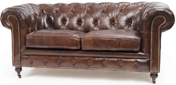 Leather Tufted Sofa
