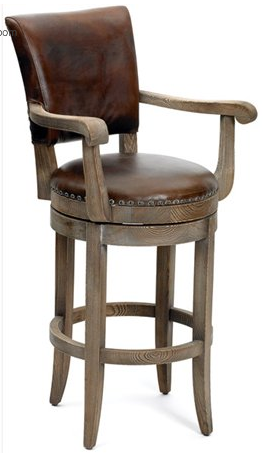 wooden pub stool