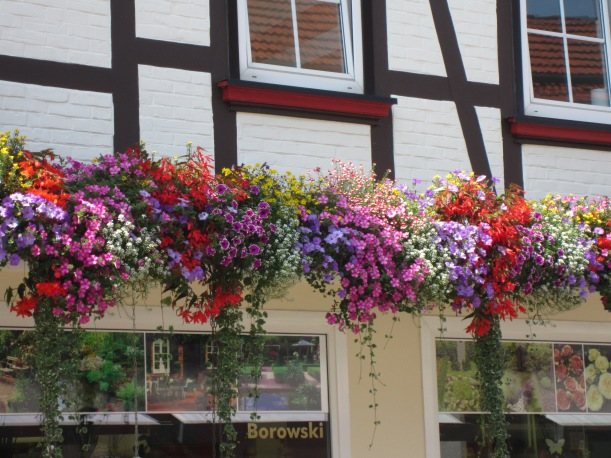 German window boxes.