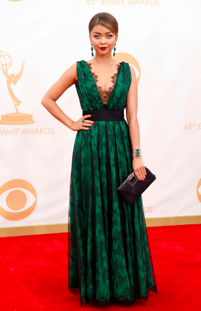 Sarah Hyland Emerald Green dress