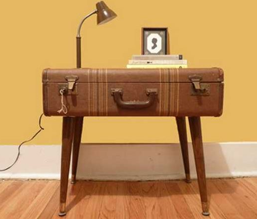 Furniture using vintage suitcase