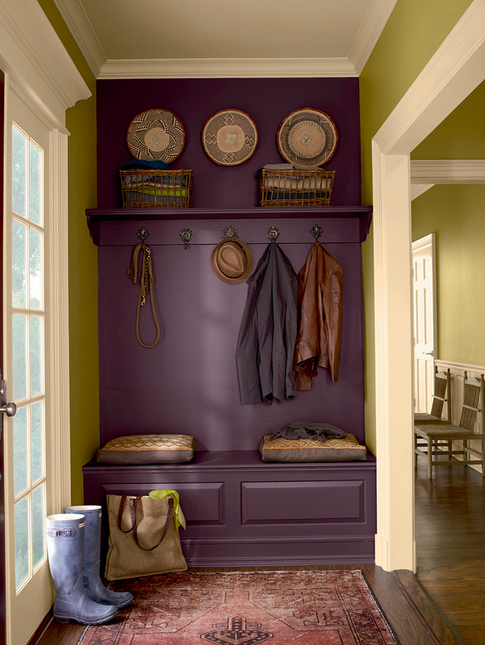 colorful mudroom