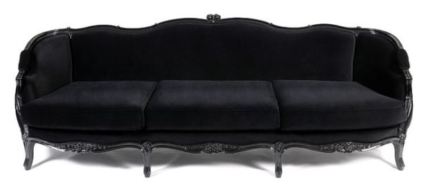 black louis xv couch